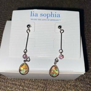 Lia Sophia abalone drop/dangle earrings